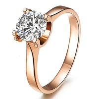 HBP luxury fashion trend Niutou imitation diamond with four claws and empty support zircon ring copper plated platinum jewelry