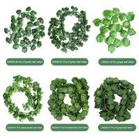 Искусственные листья пластиковые лозы Real Plant Rattan Green Radish виноградный лист сладкий лист свадебный дом дворов намотки Dropshipping