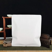 화이트 크래프트 종이 저장소 푸어 차 케이크 포장 재활용 가능한 셀프 씰링 가방 HWD7639