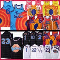 Movie Sast Jers 2 Tune Squad Баскетбол Джерси Леброн 6 James 1 Bugs Мужская синяя Билл 10 Лола! TAZ 1/3 Tweety 7 R.runner
