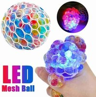 Fidget Toy Mesh Ball Stress LED Brillante Un juguete de uva Alivio de ansiedad Alivio Squishy Toys For Kids Adults Antistress Dentimpression Toy Toy