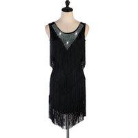 New Adult Latin Dance Dress Abiti salsa Tang cha cha cha sala da ballo nappe nappe rhinestones Gruppo Dance Dress 5color s-xxl personalizzabile