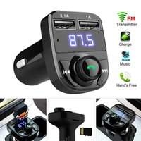 Chargers X8 FM Transmitter Aux Modulator Bluetoot car Bluetooth hands-free phone calls, fast charging Kit Audio MP3 Player with 3.1A Dual USB Charger Accessorie