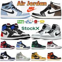 Top 1 1S Chaussures de basketball High Chicago Royal Bred Black Toe Reflectif Blanc 11 11S Baskets de baskets en cours d'exécution de 45 élevés de Concord