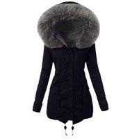 Women's Wool & Blends Winter Warm Parka Women Coat Ladies Lining Womens Thick Long Jacket Hooded Overcoat