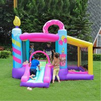 Garden Supplie Donuts Outdoor Indoor Bounce House Inflatable Bouncy Houses for Kids with Blower Jumper Castle w  Slide Ball Pit
