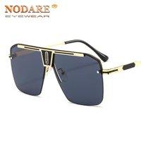2021 Hohe qualität quadratische sonnenbrille männer uv400 siamesische objektiv sonne gläser herren fahren goldrahmen retro sonnenbrille oculos