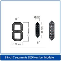 Module 4pcs / Packs8 Zoll7 Segmente LED-Anzeige Nummernmodul, LED-Uhr-Bildschirm / Ölpreis-Anzeigetafel, Highlight im Freien