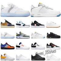 Force one 2021 Light Bone 1 React chaussures de plein air triple blanc USA Smoke Grey Astronomy Blue femmes baskets de sport pour hommes 36-46