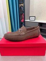 Formal Mens Designer Dress Shoes Brown Matte Leather High Quality Fashion Luxury Evening Prom Wedding Men Toe Shoe
