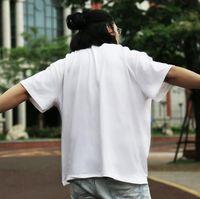 Boyutu XS-2XL Erkekler S Giyim 2021 Siyah Beyaz Gri Pamuk T Gömlek Yaz Açık Spor Rahat Şort Kollu Adam Giysileri Tişörtleri