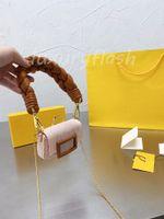 2021 Последние женские сумки Nano Bagette Designer Crossbody сумки мини Размер плечо подмышечная сумка грубый тканый ремешок монеты кошелек