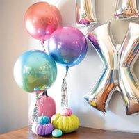 1pc 22inch 4D rond couleur dimensionnel doré ballons ballons de fête d'anniversaire de mariage décoration hélium gonflable globos