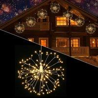 2in1 Pack Hanging Starburst Fireworks Lights decoration 152 LED Dandelion Fairy Battery Operated String Light