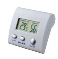 Dijital LCD Sıcaklık Nem Higrometre Termo Hava İstasyonu Termometro Reloj Termal Görüntüleyici Humidometre KKE4802