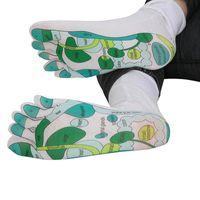Yeni Kadın Erkek Refleksoloji Çorap Tek Toe Tasarım Uzak Doğu Şifa İlkeleri Çorap Do99