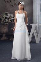 Bridesmaid Dress 2021 Design Handmade Custom Size color Halter White Mermaid Chiffon Country Style Dresses