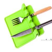 Küchenutensilien Ruhen Löffel Pot Pan-Deckel-Topf-Schaufelhalter Lebensmittelqualität Silikon-Werkzeuge Regal Küchenzubehör EWB5498