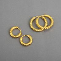 Hoop & Huggie Semorilry 925 Sterling Silver Snake Skin Texture Earrings For Women Minimalist Sleeper 2021 Trend Hawaii Jewelry