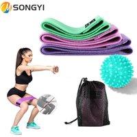 Bandas de resistencia Songyi Multi Colors Deportes Yoga Fitness Tensión Elástica Banda Fuerza Fuerza Entrenamiento Bucles Ejercicio Correa Correa I62