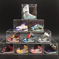 Mini Steachser Stehero Sneaker Keychain Décoration Creative Voiture Clé Chaîne Hommes Hommes de basket Basketball Chaussures Stéréo Modèle Couple Cadeau
