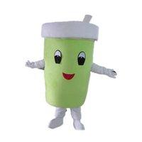 Professionelle grüne Tasse Maskottchen Kostüm Halloween Weihnachten Fancy Party Kleid Cartoon Charakter Anzug Karneval Unisex Erwachsene Outfit