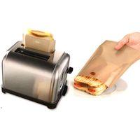 Saco de torradeira non vara saco de pão sanduíche sacos reutilizáveis revestidos de fibra de vidro torrada microondas aquecimento ferramentas de pastelaria dwb8864