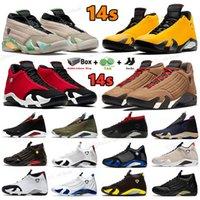 Yeni Retro 14 Basketbol Ayakkabı Jumpman 14 S Kışlık Spor Salonu Kırmızı Turbo Hiper Kraliyet Siyah Ayak Dobernbecher Çok renkli Şeker Kamışı Çöl Kum Erkek Spor Sneakers ABD 7-13