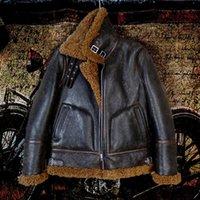 Faux de cuir pour hommes, 2021 B3 Style Veste véritable chaude.100% de laine épaisse en peau de mouton de peau de mouton.