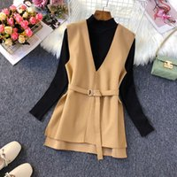 Wool Vest Women Top Sleeveless Jacket Vintage Spring Autumn Fall Woolen Waistcoat Fashion Ladies Vests Coat Outerwear Female