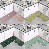 Moderne Küchenmatte Rutschfeste Bodenmatte Schlafzimmer Eingang Fußmatte Home Halteur Teppich Dekoration Wohnzimmer Teppich Anti-Slip Teppich