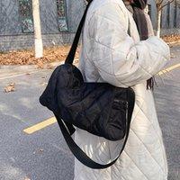 Oxford Cloth Large Capacity Designer PU Leather Shoulder Bags for Women Female Crossbody Bag 2021 Black Handbags and Purses