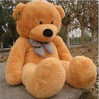 2015 Novo Chegando Montagens de Ângócio Rés Do Rés Do Rés Do 200cm / 78''''inch Teddy Bear Pelúcia Enorme Brinquedo Macio Brinquedo De Plush Toys Valentine Day Presente 5 Cor Brown