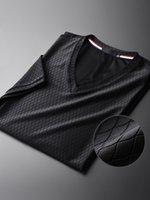 أسود الرجال القمصان تنين مقياس حريري النسيج المحملة الأزياء الظلام الحبوب الخامس الرقبة ضئيلة قصيرة الأكمام m - 4xl