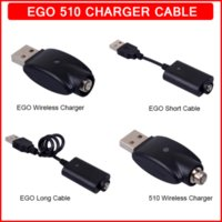 Ego USB Charger Electronic Cigarette E Cig Wireless Chargers Cable for 510 Thread EVOD Twist Vision Spinner 2 3 Mini Battery