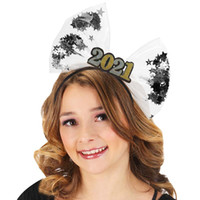Party Masks 2021 Happy Year Head Bands Decor Celebration For Favor Hair Hoop Po Booth Props Supplies Lolita Accessories