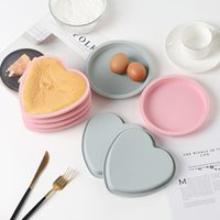 Newcake Molde de silicona Corazón Forma redonda para hornear 20cm Molde de resina de molde de torta de cumpleaños de tamaño grande EWB7783
