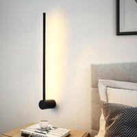 Wall Lamps Modern LED Lamp Long Hanging Lights Simple Nordic Living Room Sofa Background Light Bedroom Bedside Floor
