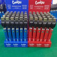 Cookies Backwoods Twist Предварительно нагрева VV Батарея 900 мАч Нижний напряжение Регулируемая VS Verex Law 510 резьбовые аккумуляторные картриджи 30 шт.
