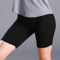 Yoga Outfits Women's Sports Shorts Side Pocket Stitching Fixed Stretch Tight Fitness Running Short Wear For Female Gym Clothing