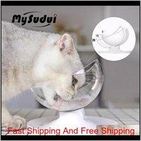 Mysudui Anti-Slip Cats Bowl para perros PET PET Dispensador de agua Separable Cat Dispensador de Agua Cats Cuencos Alimentadores Mascotas Dla PSA Ke9my Q50FO
