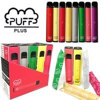 Auf Lager Puff Plus Einweg-E-Zigaretten-Puff-Bars plus Vape-Stift Ecig Starter-Kit vorgefestigt 3.2ml Pod Carts 550mAh Batterie-Tauchplus-Gerät