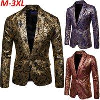 Trajes para hombres Blazers 2021 Moda Traje para hombre Lentejuelas Blazer Abrigo Formal Weding Fiesta Outwear Casual Outwear Plus Tamaño M L XL 2XL 3XL