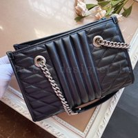 Shopping Totes Genuine Leather Women Chain Marmont Bag Handbags Fashion luxury designer Lady New Classic Crossbody Shoulder Bags clutch Purses Backpack