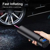 Bike Pumps Tyre Inflator Cordless Portable Compressor Digital Car Pump Rechargeable Air For Tires Balls 12V 150PSI