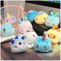 Cute 8cm Anime Expression 10 style Plush Keychains Toy Geometry Monster Toys Unicorn Soft Dolls Pillow Kids Baby Gift Children's Bed R