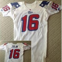 Goodjob Men Scott Zolak #16 Team Issued 1990 White College Jersey size s-4XL or custom any name or number jersey