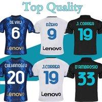 مشجعي اللاعب 2021 2022 Inter Home Away Soccer Jerseys Lukaku Lautaro Eriksen Alexis Campioni Jersey 21 22 ميلان Vidal Barella Men Kits بولو تدريب القمصان