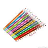 Gel Pens Diamond Pen School Supplies Draw 12 Colored Student Candy Color Gifts N27 20 Drop