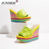 Sandals Women 2021 Heels Woman Slippers Platform Wedges Shoes Ladies Summer Slides Mujer Espadrilles Plus Size 35-43